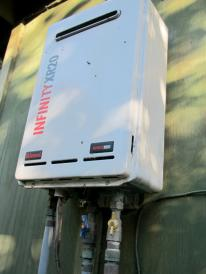 continuous flow gas water heater