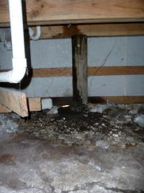HCS subfloor unsupported pipe