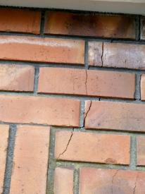 HCS walls crack in brick veneer