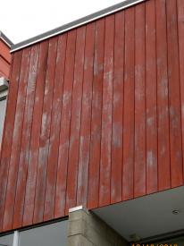 deterioration of stain finish on timber cladding