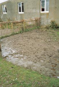 evidence of damp ground conditions