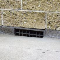 vent blocked by garden mulch