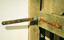 rusted hinge gate