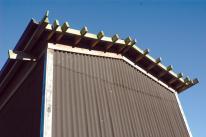 bitumen corrugate profile wood