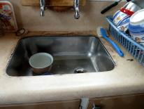 HCS inside house water leaks around sink