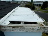 HCS roof damaged translucent sheet