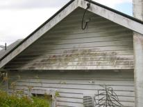 build up of dirt on weatherboards