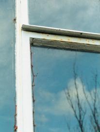 145 rusted steel window