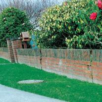 tilting cracking brick wall from settlement