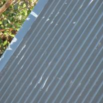 scratched metal roof